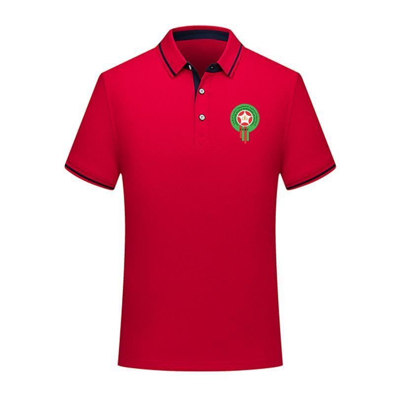 Polo Marocco 2020 della nazionale camicia di cotone estate di calcio di polo degli uomini uomini del risvolto di polo di calcio camicia di polo a manica corta in jersey di formazione degli uomini