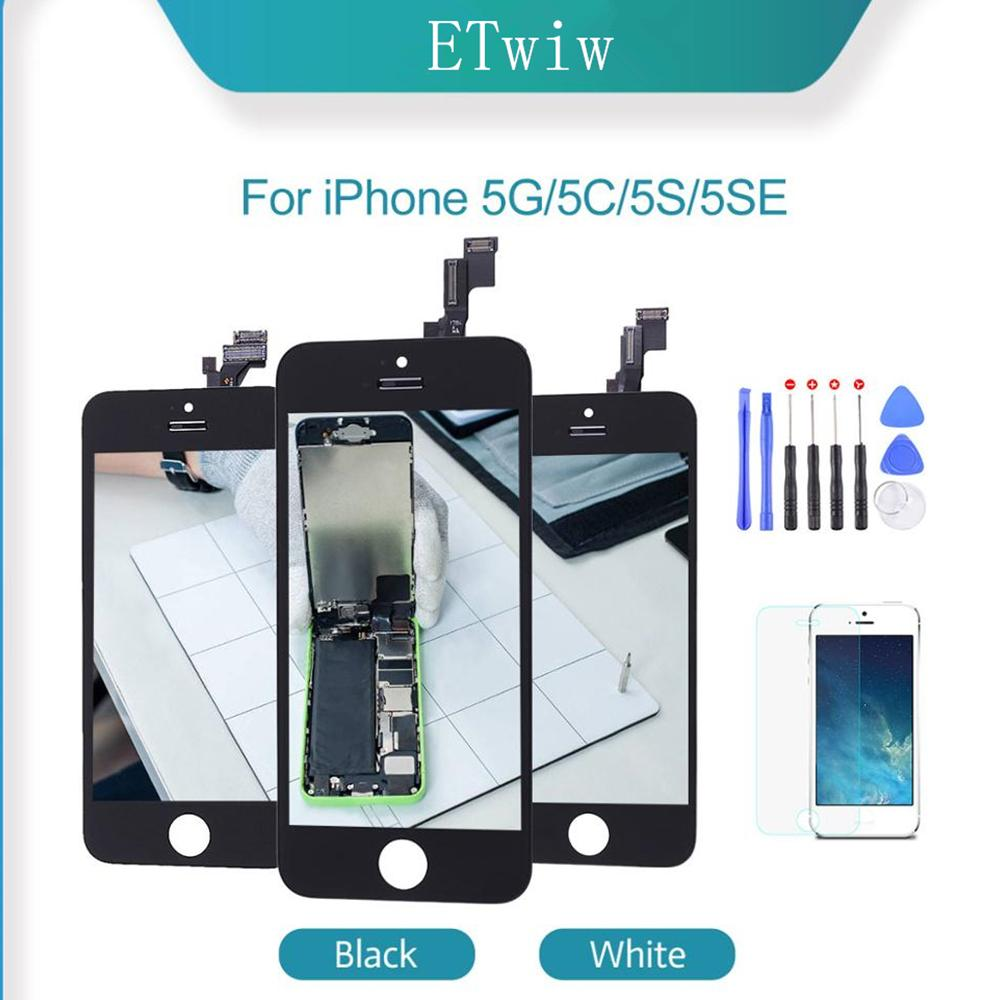 ETwiw Grade Quality For iPhone 5 SE 5C 5S LCD Touch Screen Display Digitizer Assembly Replacement Parts TFT