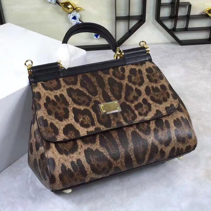 clásico bolso de diseñador de las mujeres bolso de la manera leopardo patrón de mensajero de las mujeres impresas de nuevo en otoño e invierno