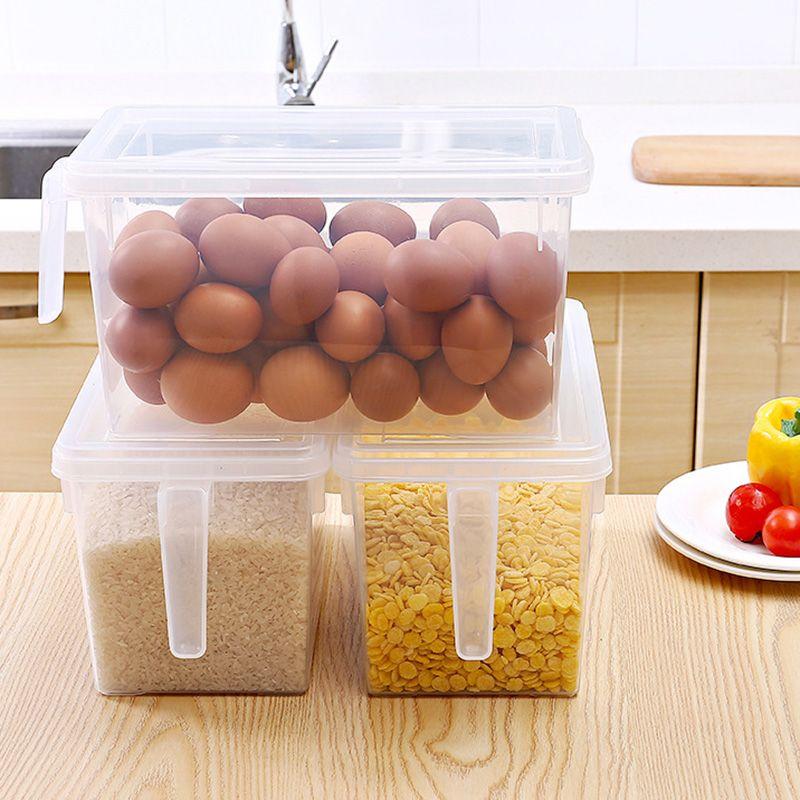 Кухня еда Контейнер для хранения Дело Холодильник Зернистого коробок с ручкой Многофункционального MYDING
