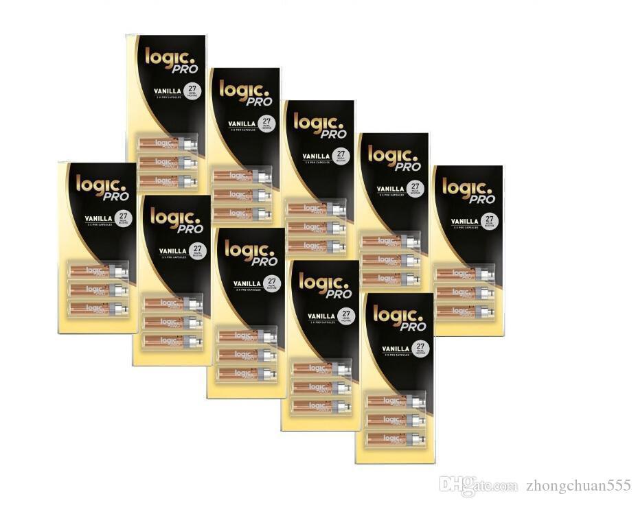 2019 Новый 10Packs / LOT LOGIC Ecig LOGIC PRO REFILL 3X КАПСУЛЫ ФОРСУНКА HOT SALE рынке США Vape PEN