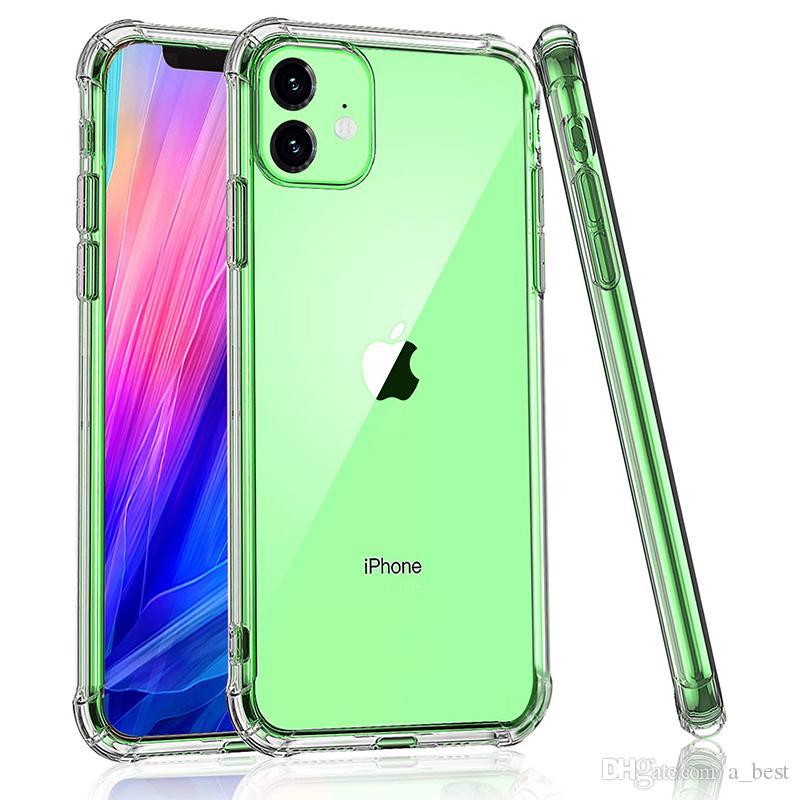 PC trasparente della cassa del telefono iPhone per 11 Pro Max XS X più radura TPU paraurti posteriore dura di caso di Samsung Galaxy Note 10 Plus