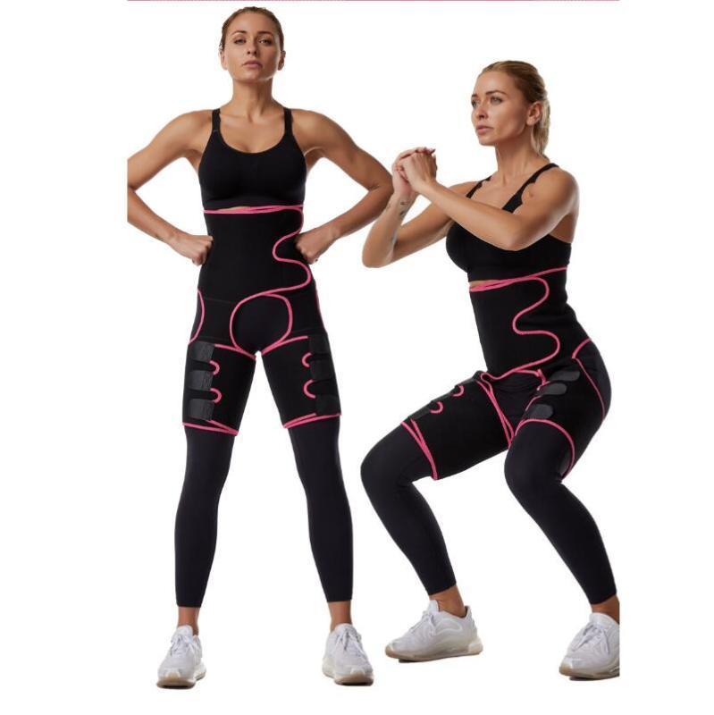 3 em 1 de cintura alta Magro Coxa Trimmer Sweat Trimmer Leg Shapers Push Up cintura instrutor Calcinhas Fat Burning Neoprene emagrecimento Belt