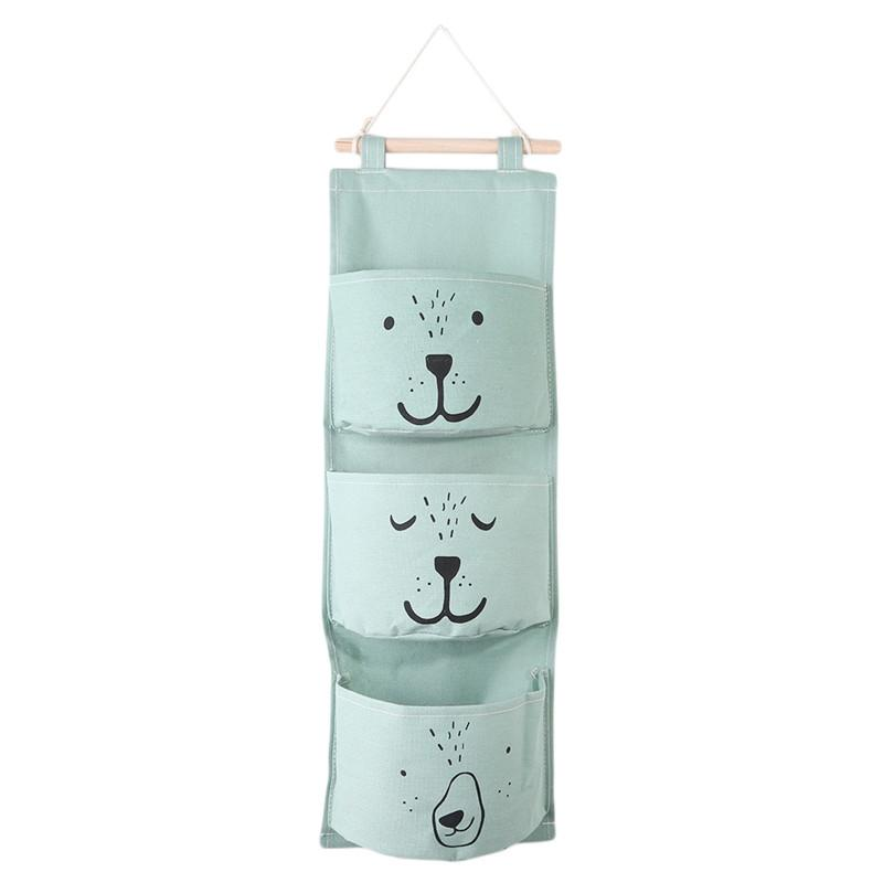 Wall Hanging Bathroom Bath Toy Bags Organizer Closet Children Pouch For Baby Bath Toys Books Cosmetic Sundries - Green Kitchen Storage & Org