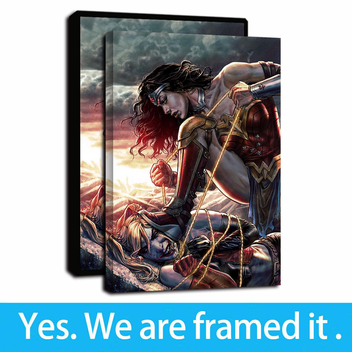 "12/""x20/""Cartoon Wonder Woman HD Canvas print Painting Home decor Picture Wall Art"