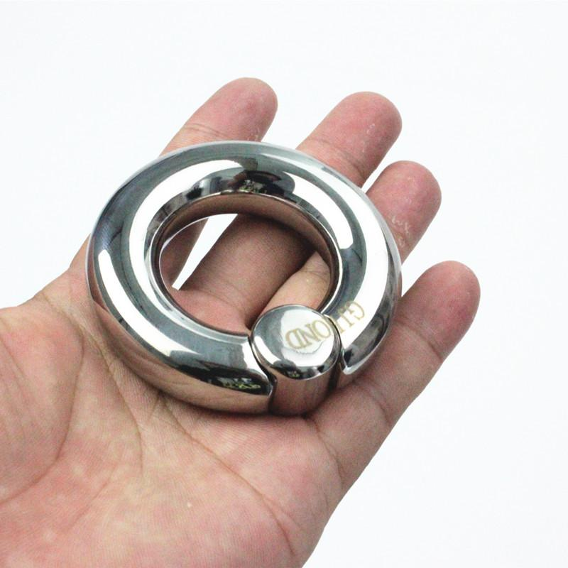 Scrotum Pendant Pressure Column Circle Stainless Steel Hoop Bind Ball Stretcher Penis Weight-Bearing Sex Rings for Men B2-2-316