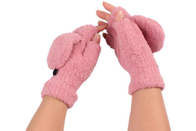 Оптово Новый прекрасный зимний перчатки без пальцев рук запястья Теплые варежки