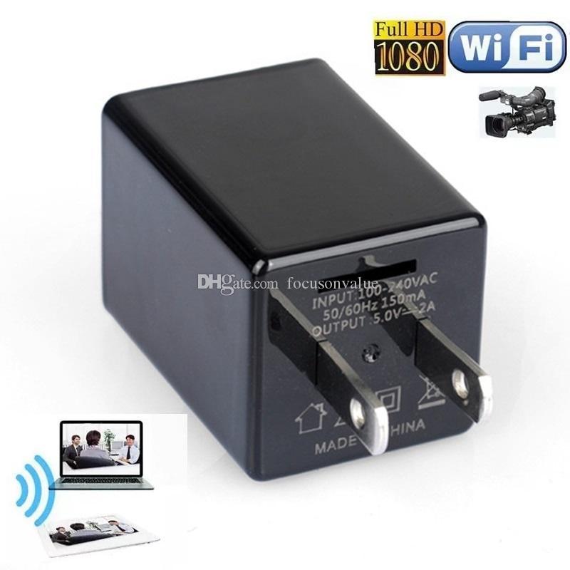 Z99 WIFI Ladegerät Mini Kamera Full HD 1080P AC Adapter Ladegerät Videokamera USB Buchse DVR Home / Office Überwachungskameras