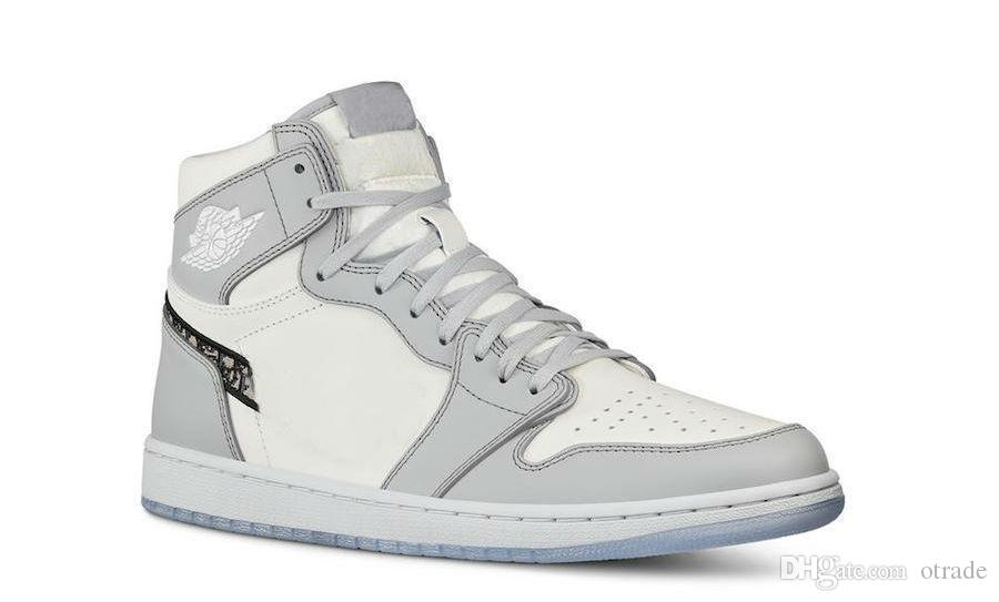 Os mais recentes Com alta 1 OG x 10 Retro Grey 310 Black Sail Shoes White Men Basquete Tênis Esportes