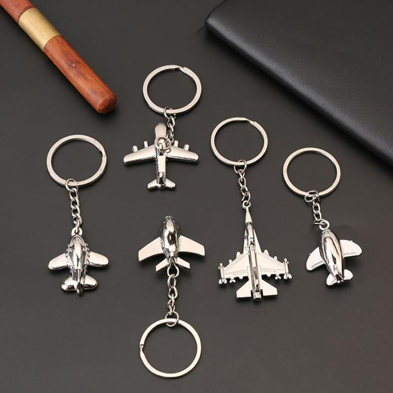 Regalos creativos llavero de metal Naval aviones de combate modelo de la aviación llavero del llavero Modelo plano de aire Aircrafe llavero