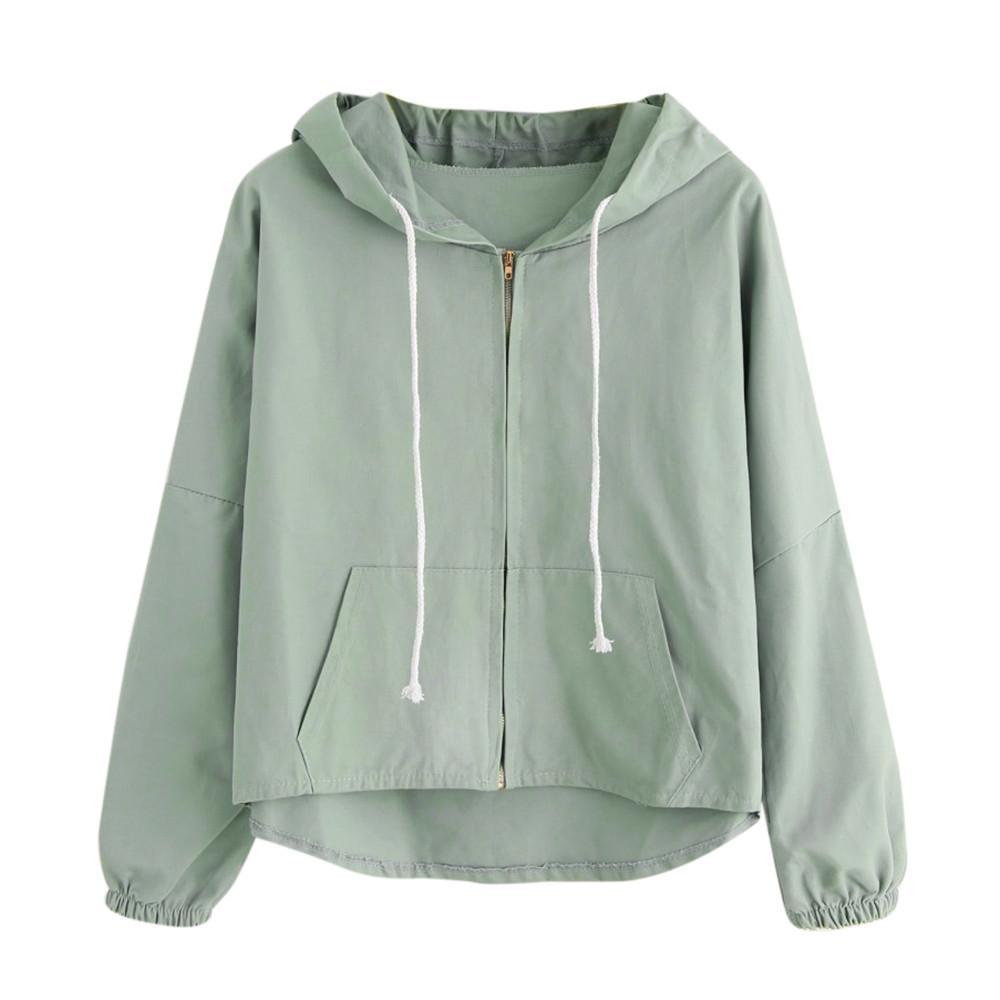 Женские куртки тонкой куртки женские модели с капюшоном повседневная ветровка базовый свитер молнии на молнии 7,9 0,5