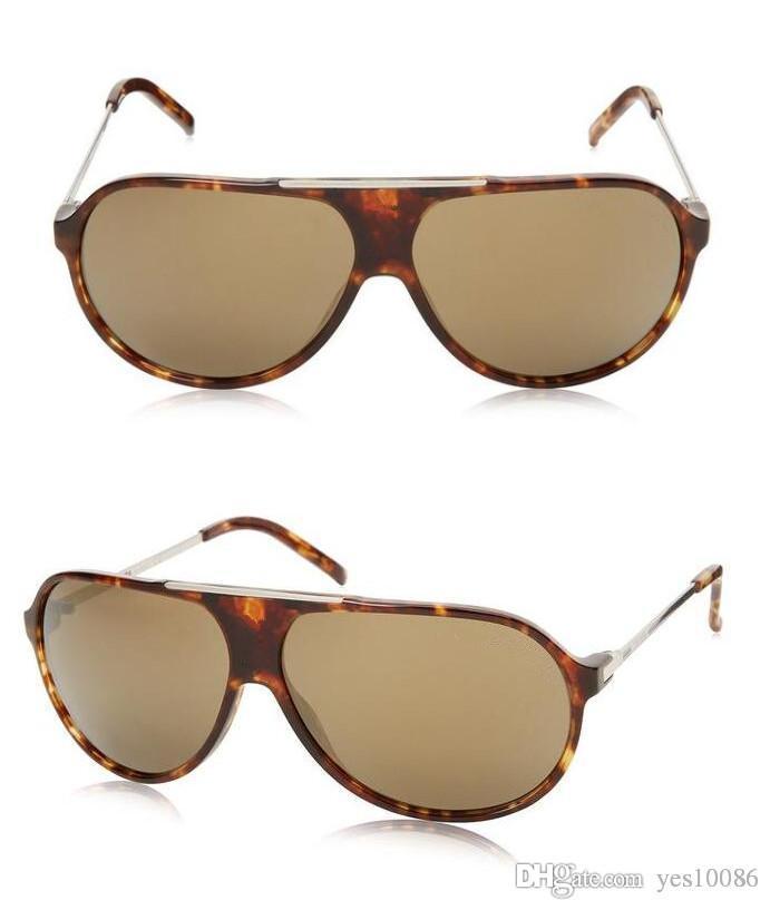 Venta caliente de verano Diseño Marco grande Metal piloto Moda hombres mujeres gafas de sol con caja original caja deporte anteojos Clásico jim gafas buenas