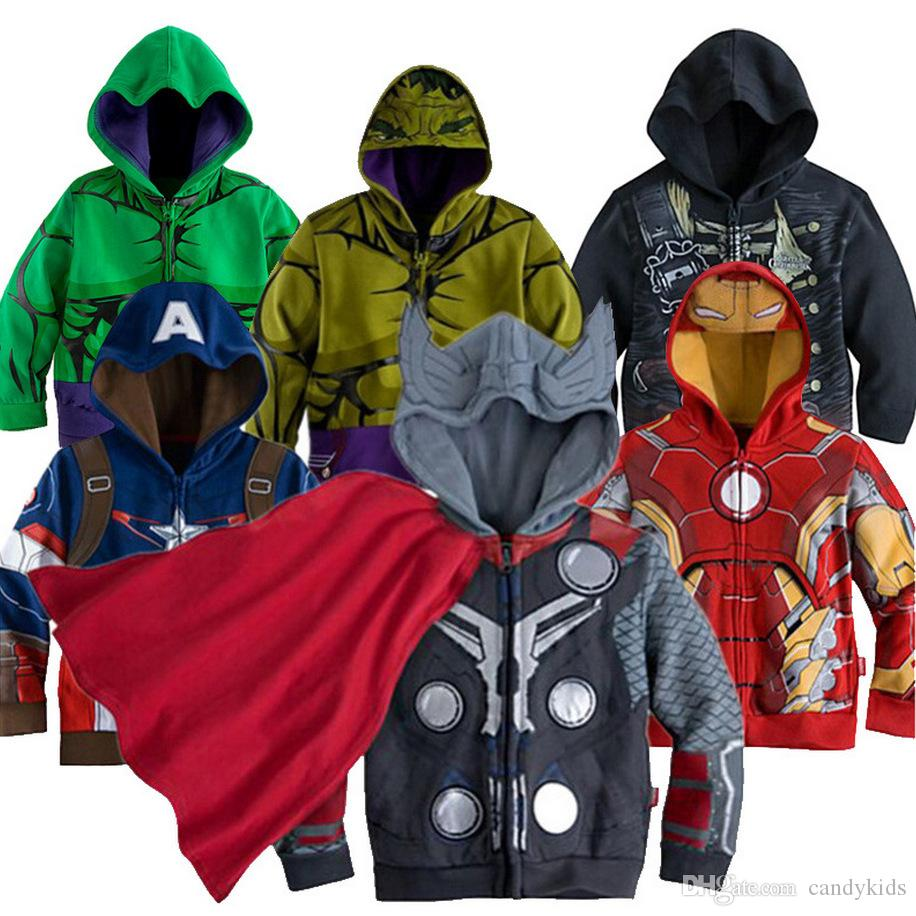 Little Boy Outerwear Coats Super Hero Avengers Iron Man Hooded Jacket 3t-8t Red