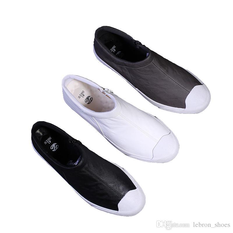 Respirez hommes chaussures en cuir chaussures pour hommes occasionnels chaussures en cuir souple tendance coréenne noir bas travail d'affaires occasionnels automne 2019 nouveau