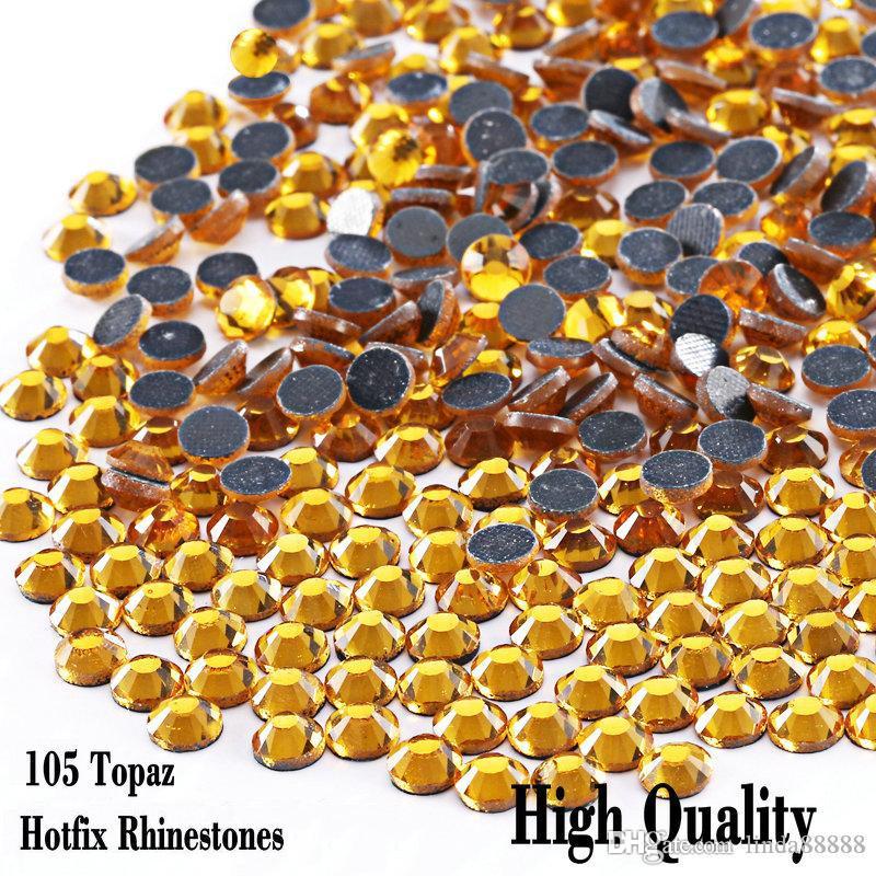 ss6 ss10 ss16 ss20 ss30 Iron On Hot Fix Rhinestones Topaz Crystals Stones Hot Fix Iron-On FlatBack