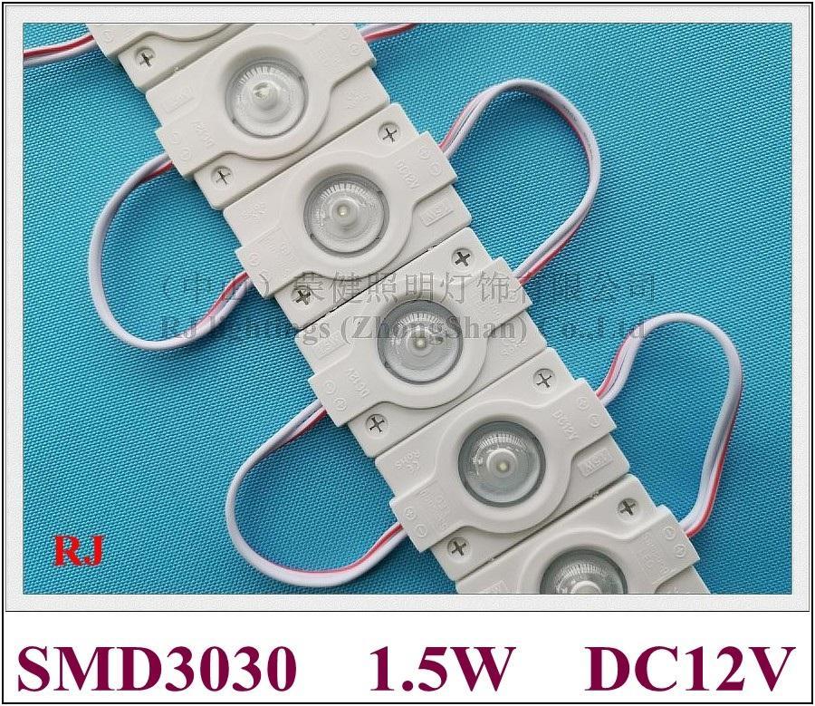 Injection imperméable High Power Puissance High Power 1.5W LED Module Lampe Light Publicité Lumière avec lentille DC12V 1led 42mm * 30mm CE