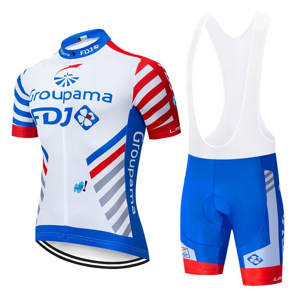 2020 Pro Team FDJ Ciclismo Equipamentos de terno MTB roupas Ciclo Quick Dry Ciclismo respirável bicicleta sportswear Maillot mangas longas lzfsport