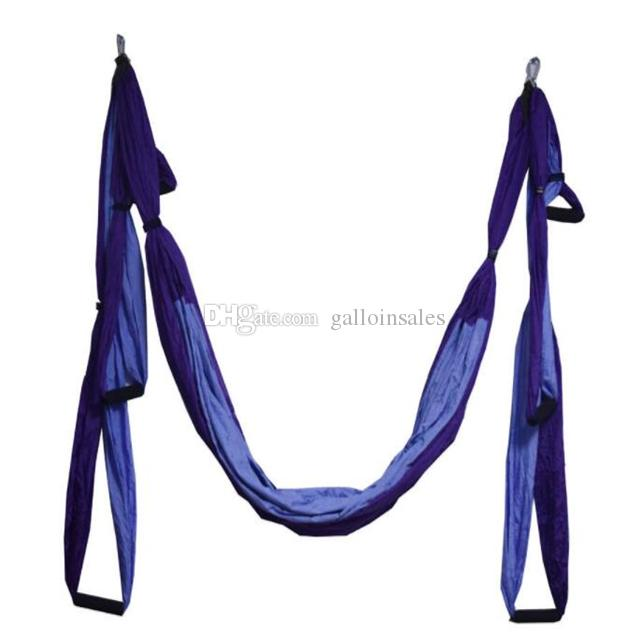 All Colors 250*150cm Air Flying Yoga Hammock Aerial Yoga Hammock Belt Fitness Swing Hammock With 440Lb Load YHM001