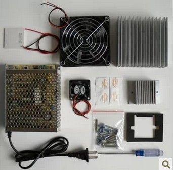 Sistema de enfriamiento DIY Paquetes de aprendizaje Refrigerador termoeléctrico Peltier TEC1-12706 Kit Refrigeración por placa fría Refrigeración del espacio Kit de estudio