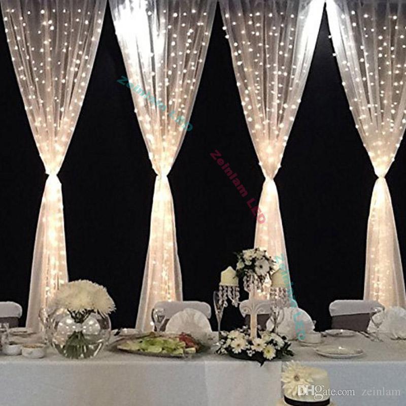 LED-Schnur-Licht 300 LED-Fenster-Vorhang-Lichter mit 8 Modi Fairy Beleuchtung zum Geburtstag, Hochzeit, Weihnachtsfeier Startseite Schlafzimmer Gartenbeleuchtung