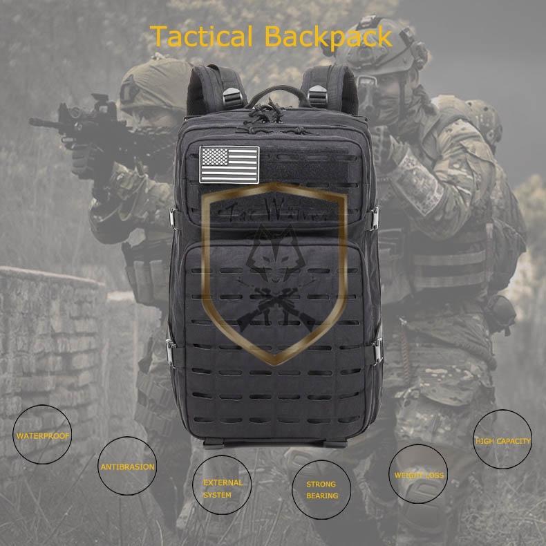 Водонепроницаемый военный треккинг на открытом воздухе Assault Huntpack Backpack Hiking кемпинг рюкзак Molle Tactical армии Bug out Bag OUMI