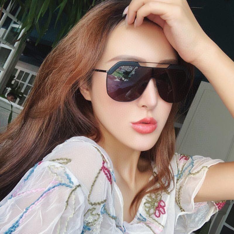SIZE Fashion New Designer Sunglasses Retro Frameless Sun glasses Vintage punk style Eyewear Top Quality UV400 Protection With box