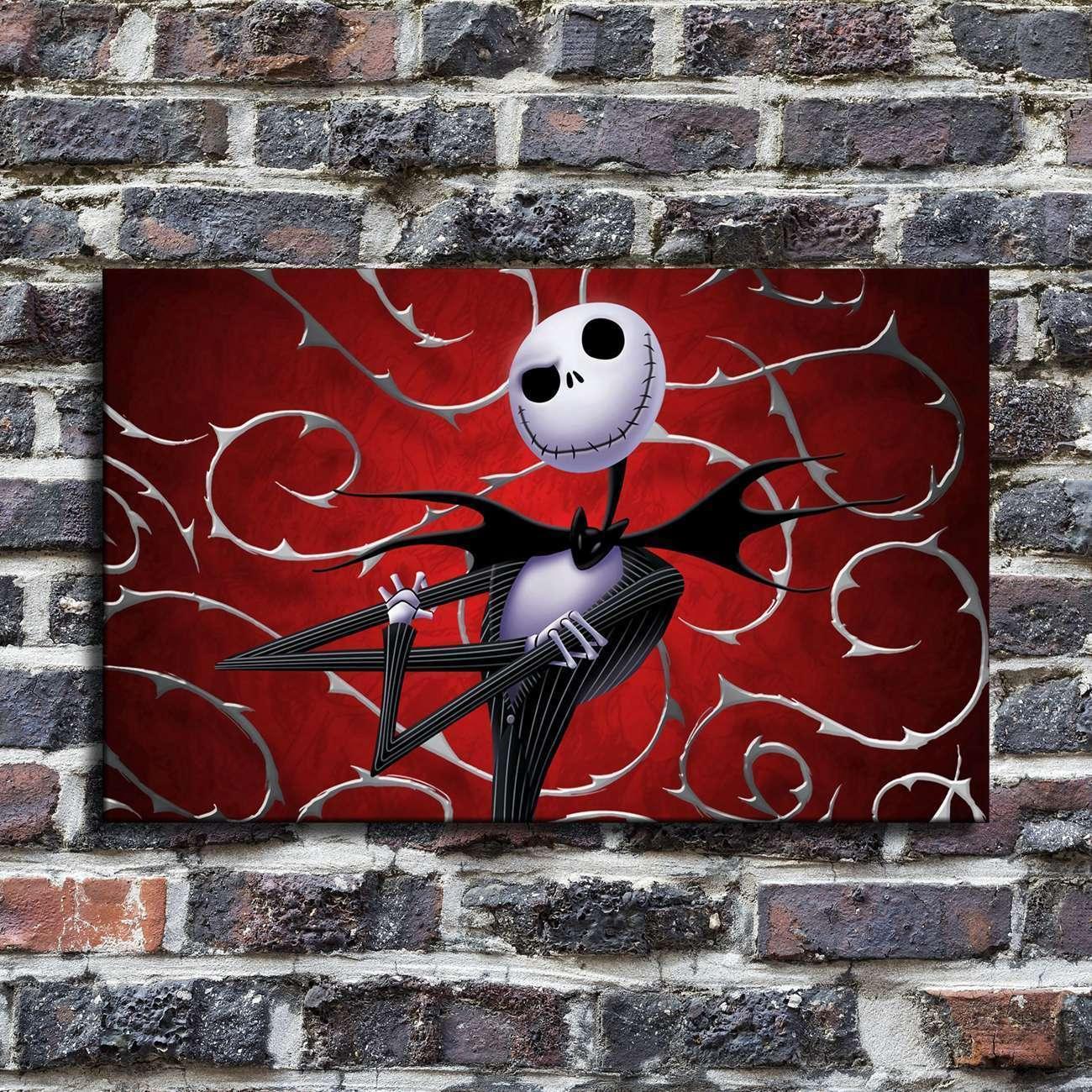 Evil Jack Skellington HD Canvas prints Painting Home Room Decor Picture Wall art
