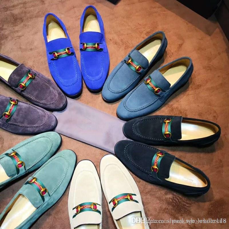 Klassische Männer Samt Loafer Dressing Wohnungen Mit Ledersohle, Hausgemachte Mode Freizeitschuhe für Hochzeit Größe 38-44