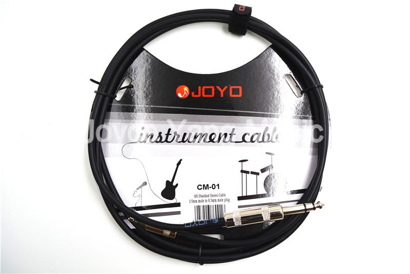 Tel Bağlama JOYO CM-01 6 ft 1,8m Örtülü Tak 3.5mm Erkek için 6.3mm Erkek Stereo Ses Kablosu Gitar Aletleri