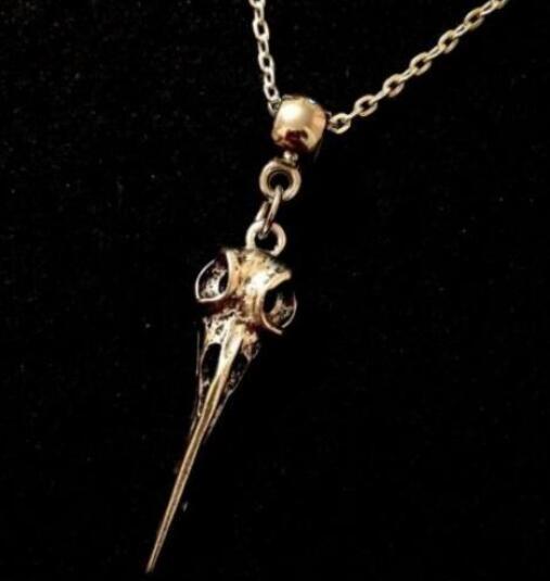 Oiseau Corbeau Fleur Crâne Raven Collier Pendentifs Vintage Argent Bronze Déclaration Choker Punk Bijoux Femmes Accessoires cadeau HOT NEW Products