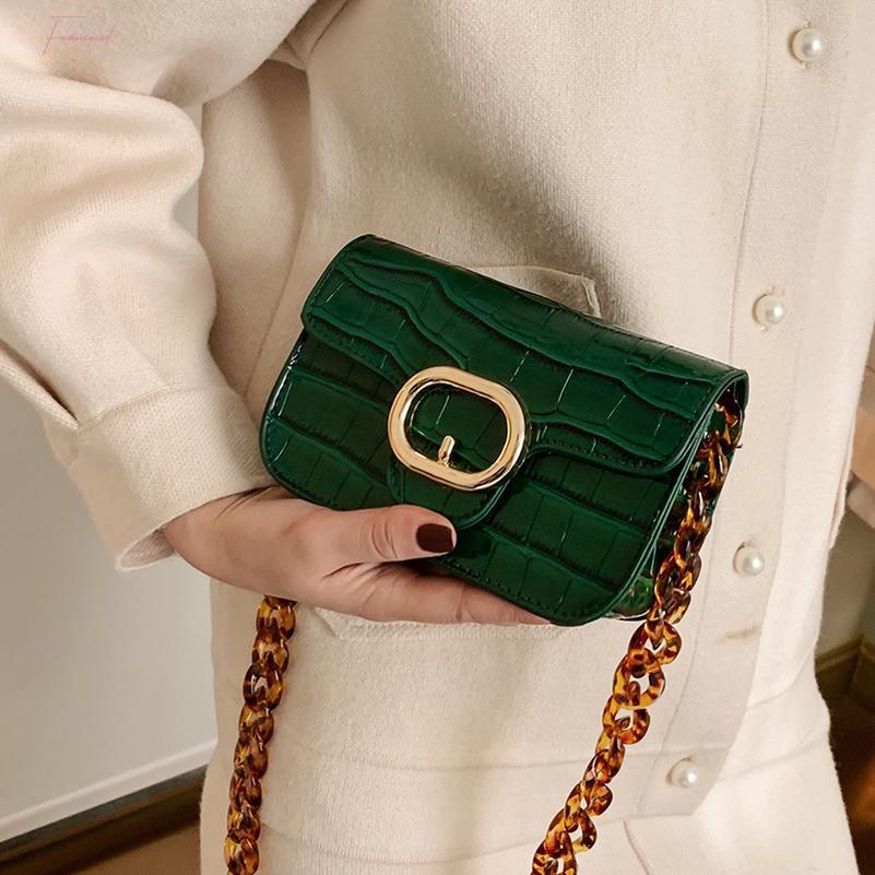 2020 piedra de la manera del patrón de cuero pequeños bolsos del bolso de Crossbody para las mujeres Sac principal Mujer Bolso Mujer bolsos y monederos