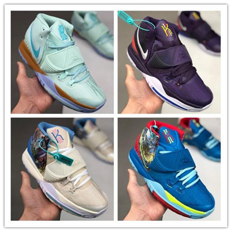 2020 New Sponge x Designer Kyrie Pineapple House 6 Mens tênis de basquete Irving 6s Graffiti Mantenha Sue frescos 20º aniversário Sports Sneakers