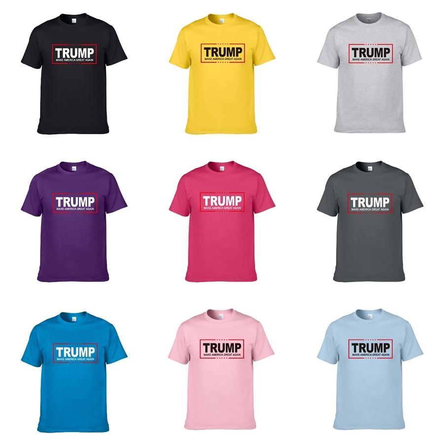 Хлопок Трамп T-Shirt Men конструктор Mens Трамп T Рубашки Hip Hop Trump Футболка Мужской Мода Стиль Короткие повседневные Тисы Топы Бесплатная доставка