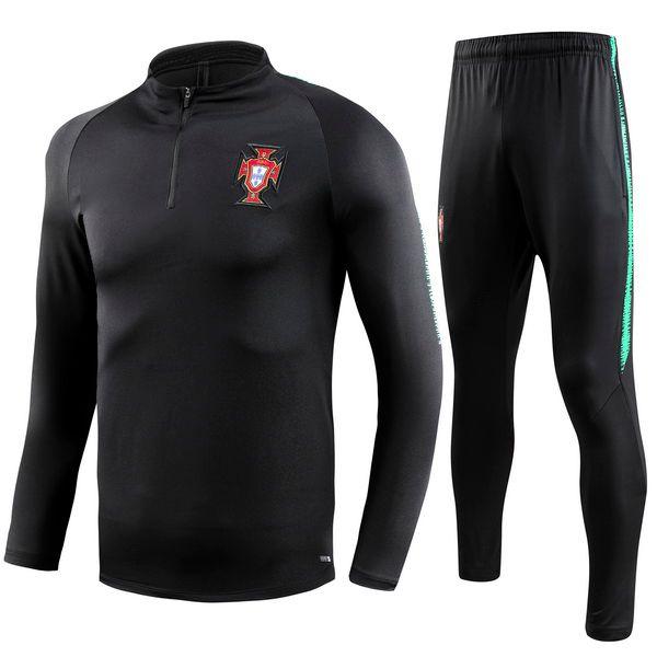 Grosshandel 2018 Portugal Thailand Fussball Trainingsanzug 18 19 Portugal Trainingsanzug Hosen Fussballtraining Kleidung Sportbekleidung Herren Pullover