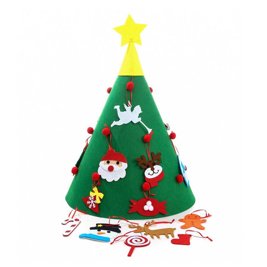 3D DIY رأى شجرة عيد الميلاد مع معلق الحلي الاطفال هدايا عيد الميلاد عيد الميلاد الرئيسية الأوسمة لغز لعبة تعليمية JK1910
