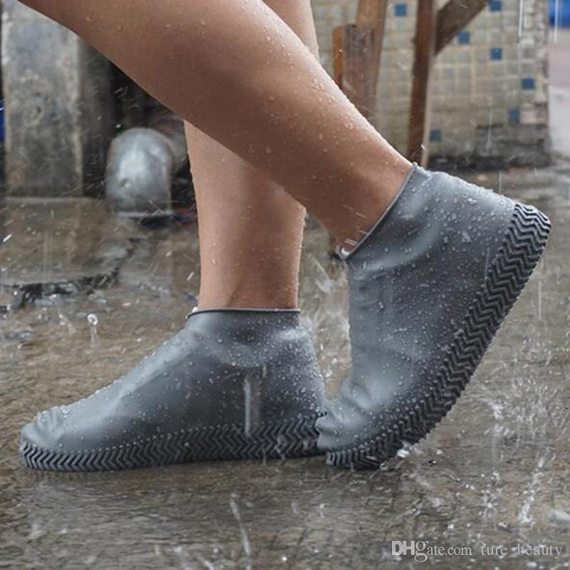 Men Women Silicone Overshoes Waterproof Rain Cover Boot Protector Recyclable US
