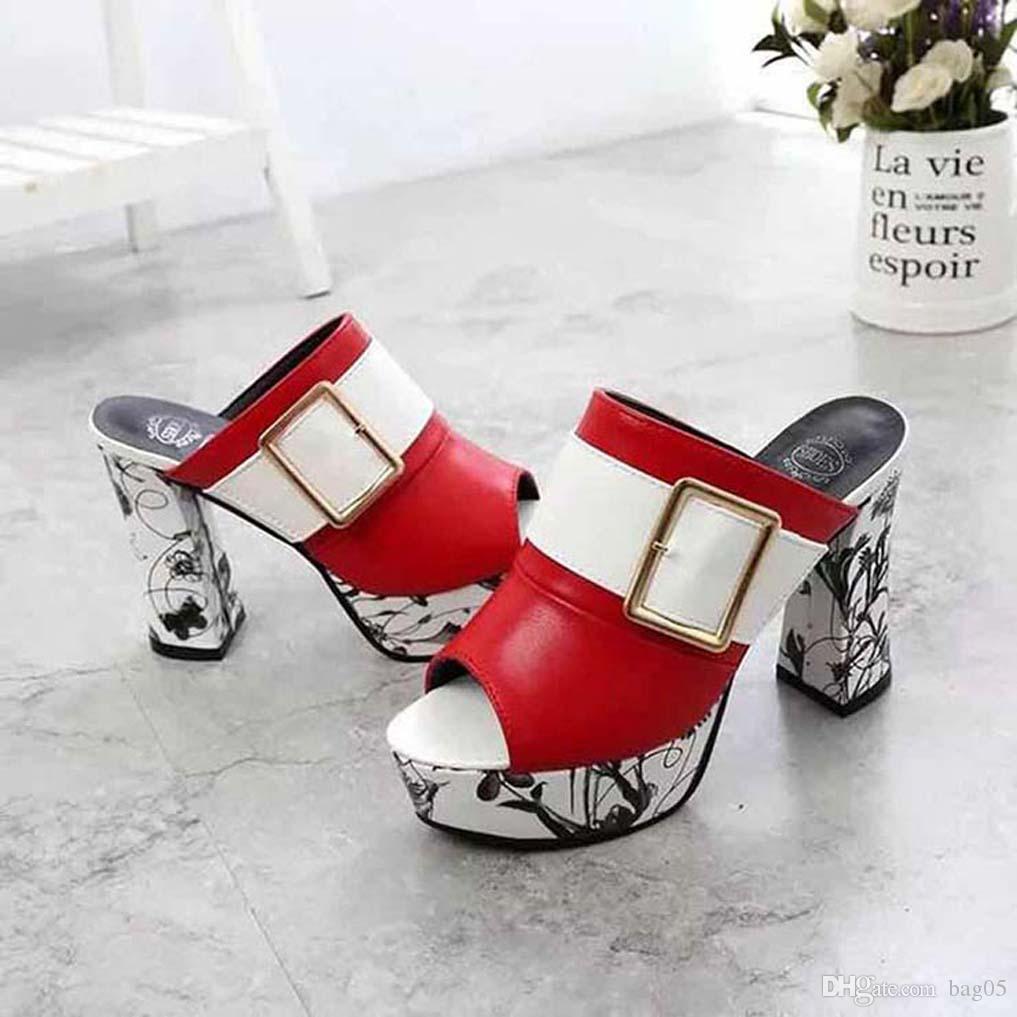 talloni delle donne dei sandali di alta qualità sandali dei pistoni Huaraches Flip-Flops scarpa Mocassini per il pistone bag05 PL771
