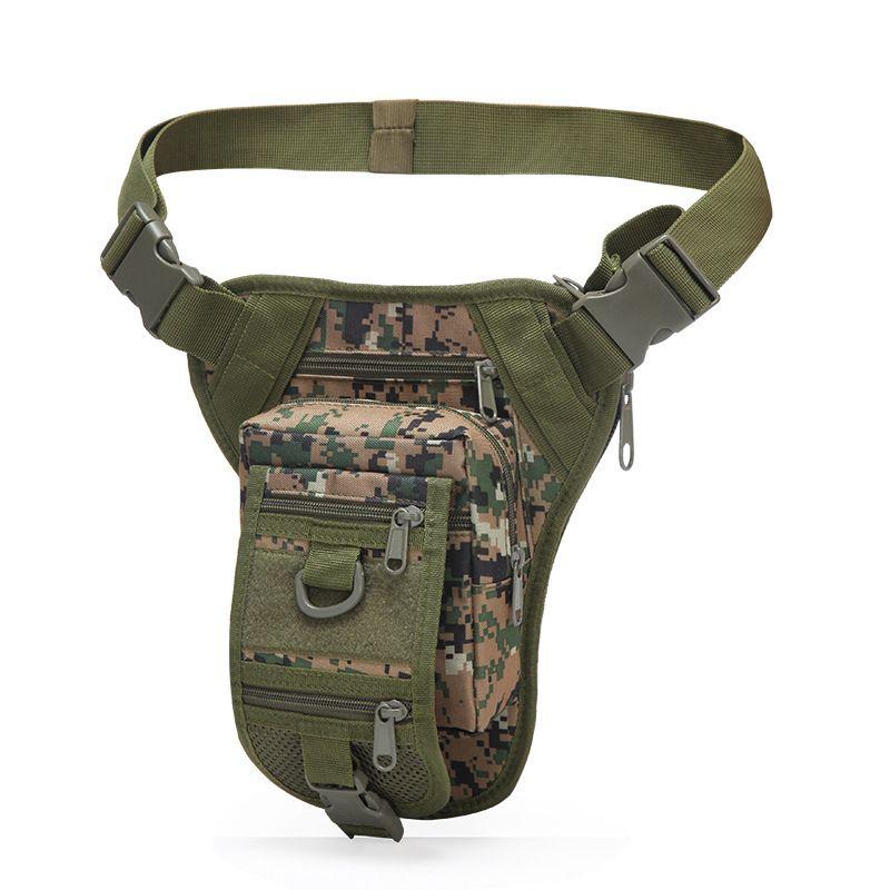 التكتيكية الساق حقيبة الرياضة حقيبة الخصر الصيد المشي لمسافات طويلة الرياضة في الهواء الطلق مقاوم للماء قطرة الفخذ الحقيبة متعددة الأغراض