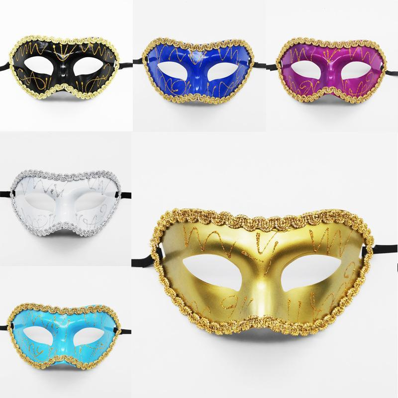Halloween Party Mask Venetian Elegant Masquerade Mardi Gras Costume Mask Party