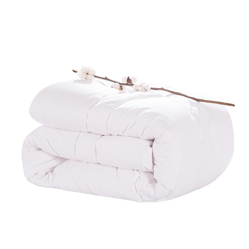 Envoi gratuit Mulberry Silk Filler matelassé Couette King Queen double taille pleine édredon / couverture / couette blanc / rose couleur coton