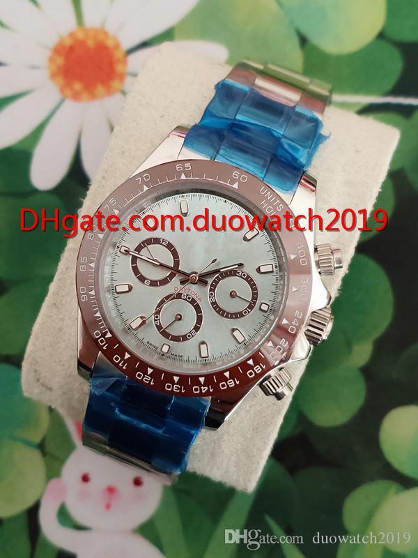2 Colores de Lujo de Calidad Superior 116506 Zafiro 40mm FECHA Relojes Mecánicos Automáticos Plegable para hombre mecánico de acero inoxidable Sin Cronógrafo