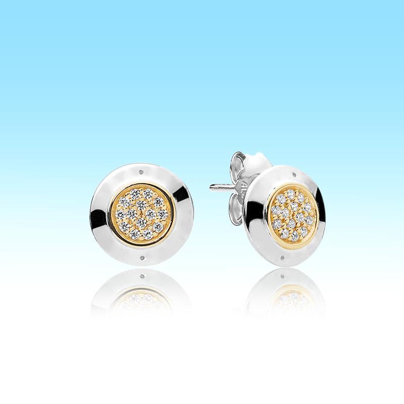 18 كيلو الذهب الأصفر بلكتاد مربط القرط مع المربع الأصلي لبندرا 925 فضة تشيكوسلوفاكيا الماس تمهيد أقراط النساء الرجال هدية مجموعة مجوهرات