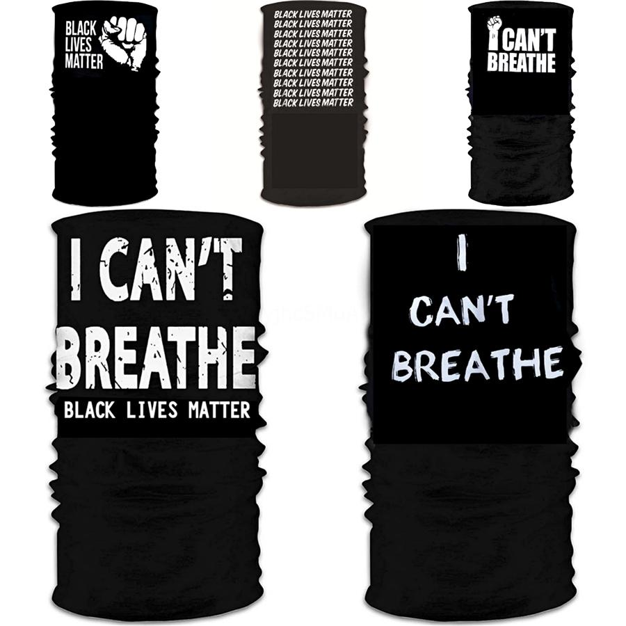 I Cant Breathe!Sunscreen Headgear Scarf Summer Outdoor Riding Mask Face Towel Head Bands For Black Lives Matter Faster Shipping Cny2167 #580