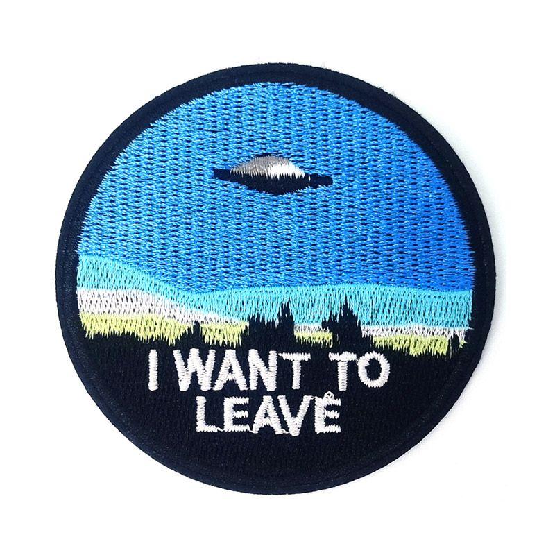 El espacio exterior Expediente X I Want parche para Blieve UFO hierro en bordados de ropa Parches para la ropa al por mayor Placas pegatinas