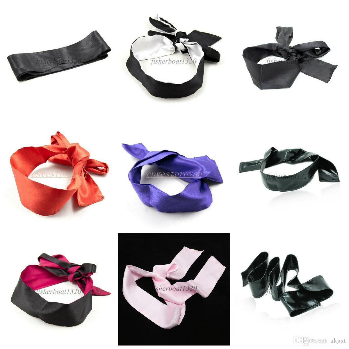 Soft Satin Blinder Eye Mask Flirt Blindfold Patch Cover Gift Sleep Cover Couple AU653