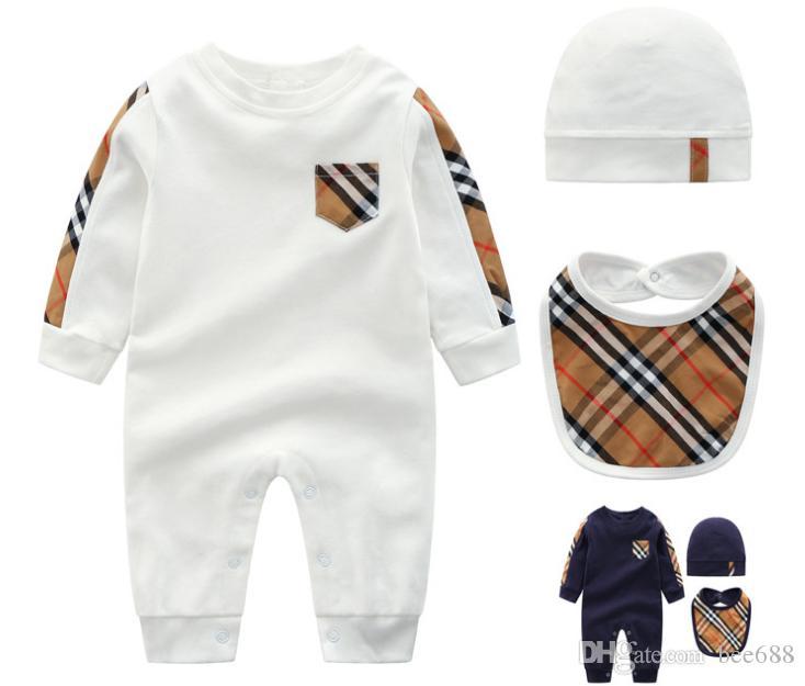 2018 Moda New Fashion Neonato Neonato Neonato Pagliaccetto Tuta manica lunga Tuta Abiti Little Boy