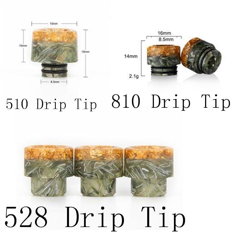 VapeSoon Whloesale 510 Resin Drip Tip 810 Greenback Drip Tip 528 Resin Drip Tip Schneller Versand
