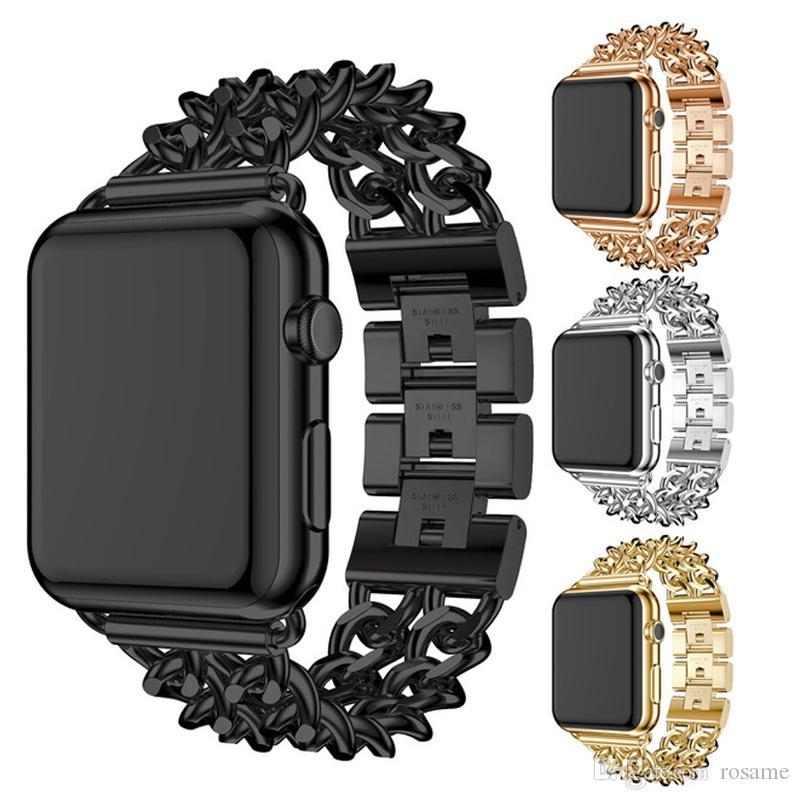 Apple Watch / iwatch 시계 용 스트랩, Jean 체인, 리지드 밴드, 합금 스테인리스 스틸 스트랩 및 팔찌