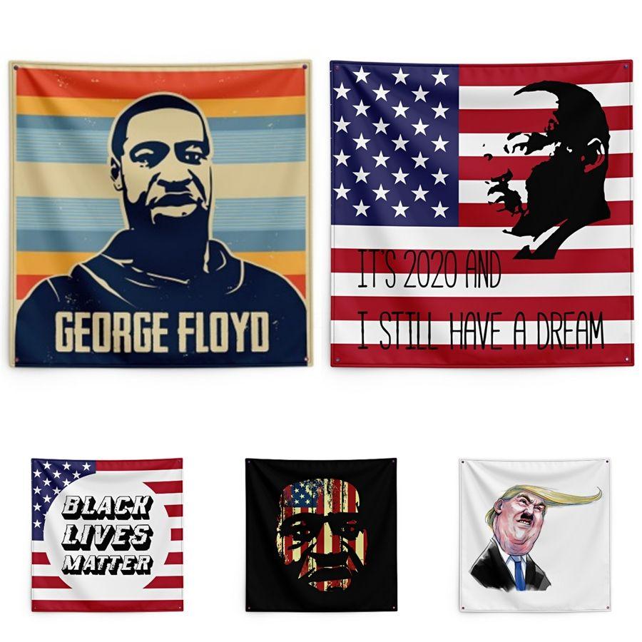 Fight For George Floyd печати Гобелен Black Lives Материи 150 * 150см Гобелен # QA61743