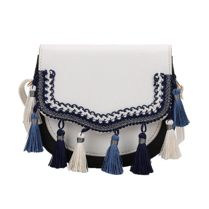 Frauen-Quasten und ethnische Art Umhängetasche Familie Arthandtaschen TotesTassel Designer Umhängetasche Umhängetasche #Lg